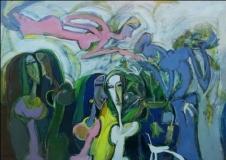 Artist: Dhiraj Choudhary<br> Title : Untitled<br> Medium: Acrylic on canvas<br> Size : 36 x 48 inch