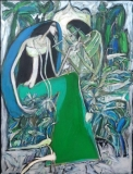 Artist: Dhiraj Choudhary<br> Title : Untitled<br> Medium: Acrylic on canvas<br> Size : 48 x 36 inch<br> Year : 2011<br>