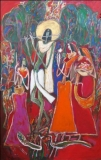 Artist: Dhiraj Choudhary<br> Title : Untitled<br> Medium: Acrylic on canvas<br> Size : 60 x 40 inch
