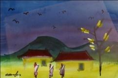 Artist: Gopal Ghosh<br> Title : Untitled<br> Medium: Digital Print on canvas<br> Size : 20 x 20 inches