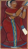 Artist: Jamini Roy <br> Title : Untitled<br> Medium: Gouache on paper board<br> Size : 22 x 21 inches