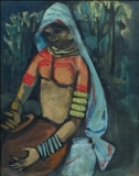 Artist: M Sivanesan<br> Title : Untitled<br> Medium: Oil on board<br> Size : 24 x 20 inches