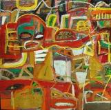 Artist: Nidhi Agarwal<br> Title : Vigilant<br> Medium: Oil on Canvas<br> Size : 4 x 4 inches
