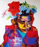 Artist: Steven Gandhi <br> Title : Rural Portrait<br> Medium: Oil on canvas<br> Size : 42 x 48 inches