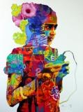 Artist: Steven Gandhi <br> Title : Rural Portrait<br> Medium: Oil on canvas<br> Size : 3 x 4 inches