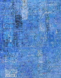 Artist: Kalicharan Gupta<br> Title : Celebration V<br> Medium: Acrylic on canvas<br> Size : 84 X 68 inches<br> Year : 2014