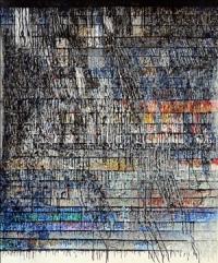 Artist: Kalicharan Gupta<br> Title : Parellelism<br> Medium: Acrylic on canvas<br> Size : 70 X 60 (Dyptich) inches<br> Year : 2015