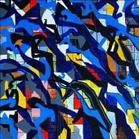 Artist: Kalicharan Gupta<br> Title : Contrapuntal<br> Medium: Acrylic on canvas<br> Size : 36 X 33 inches<br> Year : 2016