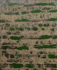 Artist: Sangeeta Gupta<br> Title : Swirling<br> Medium: Acrylic on canvas<br> Size : 50 x 40 inches<br> Year : 2006