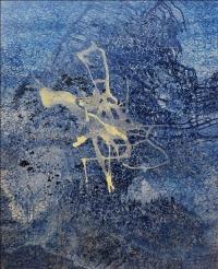 Artist: Sangeeta Gupta<br> Title : Where Silence is a Poem 4<br> Medium: Acrylic on canvas<br> Year : 2016