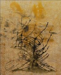 Artist: Sangeeta Gupta<br> Title : Where Silence is a Poem 5<br> Medium: Acrylic on canvas<br> Year : 2016