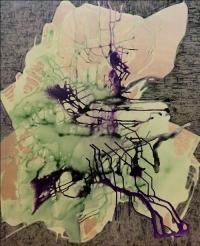 Artist: Sangeeta Gupta<br> Title : Where Silence is a Poem<br> Medium: Acrylic on canvas<br> Year : 2016