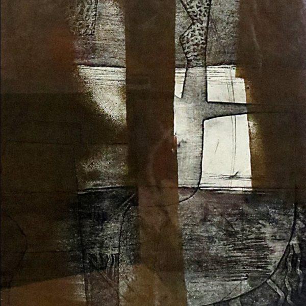 Amina Kar, Untitled, Etching, 19 x 12.5 inches, 1979