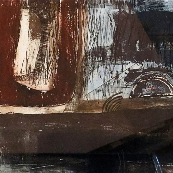 Amina Kar, Untitled, Etching, 19.5 x 13 inches