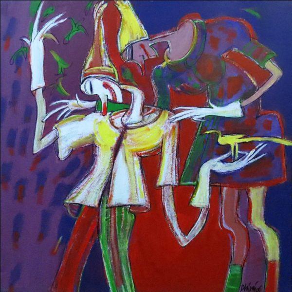 Dhiraj Choudhary, Untitled, Acrylic on canvas, 24 x 24inch,2006