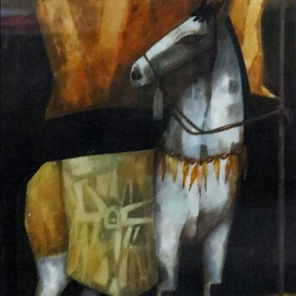 Dipankar Mukherjee, Untitled,Oil on canvas board, 17 x 13 inch, 1997